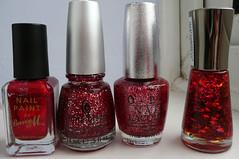 red glitters comparison