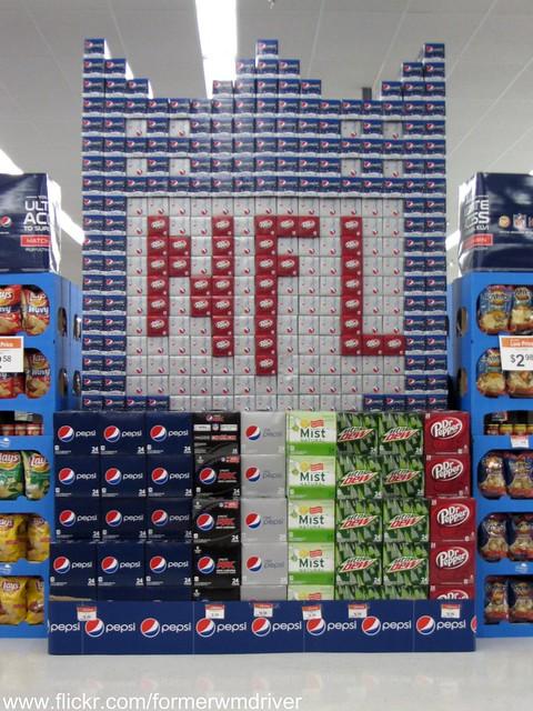 PEPSI  NFL Display at Walmart  Flickr  Photo Sharing!