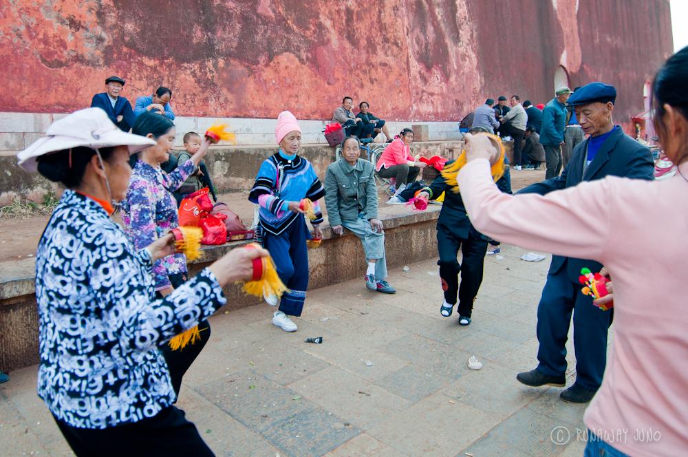 People Dancing Jianshui Yunnan China