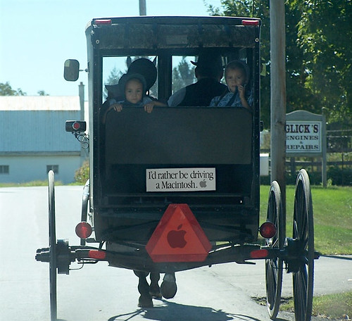 Amish Steve Jobs  Buggy Tribute