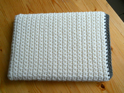 Gehaakte laptophoes / Crocheted laptop sleeve, cover or cozy by evanstra