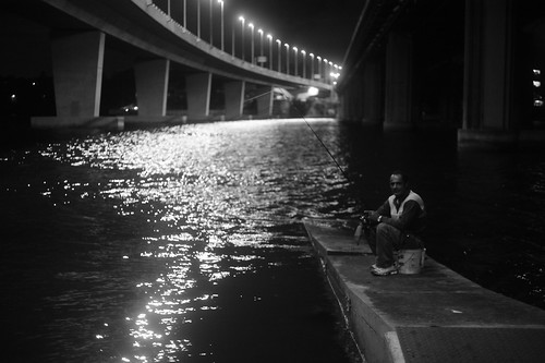 Fishing under the bridge