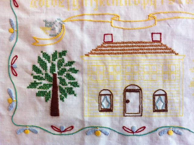 Vintage embroidery sampler the ultimate wip