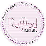 2012 ruffled badge leigh pearce wedding greensboro wedding planner