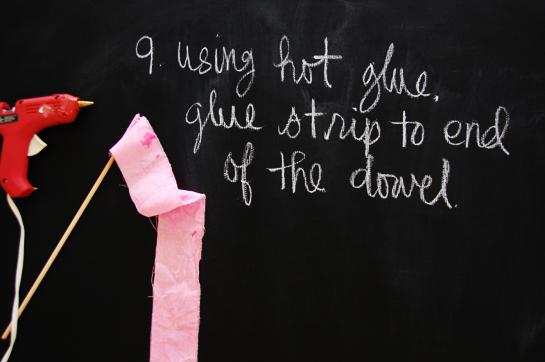 diy: ribbon wand