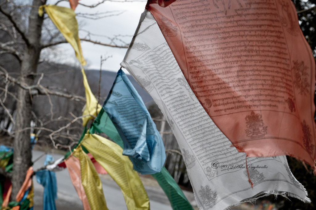 Woodstock Tibetan Monastry prayer flags