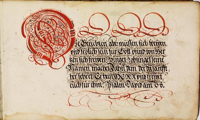 Kalligraphische Schriftvorlagen by Johann Hering n