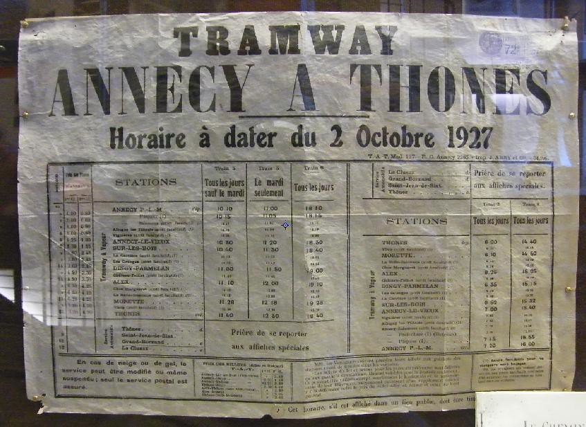 1927 TIMETABLE POSTER