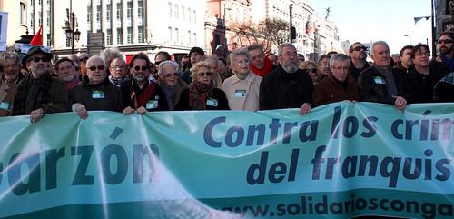 Manifestacion en apoyo a Garzon