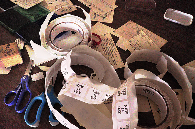Recycling the Old Analog Card Catalog As Art