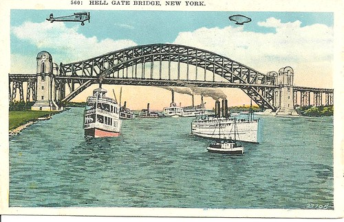 NYC Postcard - Hell Gate Bridge (Front)