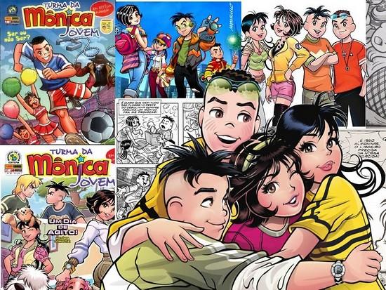 Otakando - Turma da Mônica Jovem com personagens de Tezuka