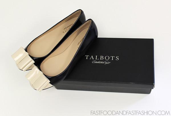 Talbots Black and White Lyla Tuxedo flat Box