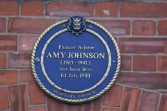 Photo of Amy Johnson blue plaque