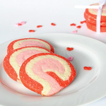 Valentine Swirl Cookies