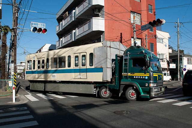 小田急電鉄 5200形 5255F クハ5255 廃車解体搬出