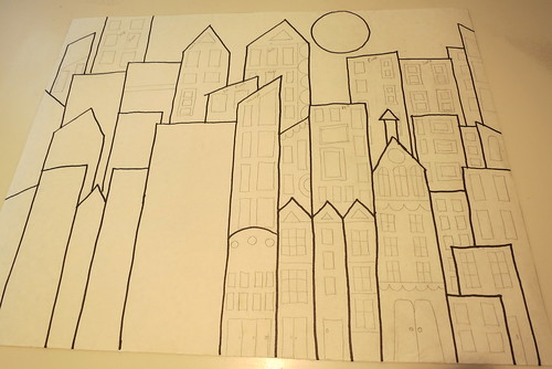 """Downtown"" the drawing"
