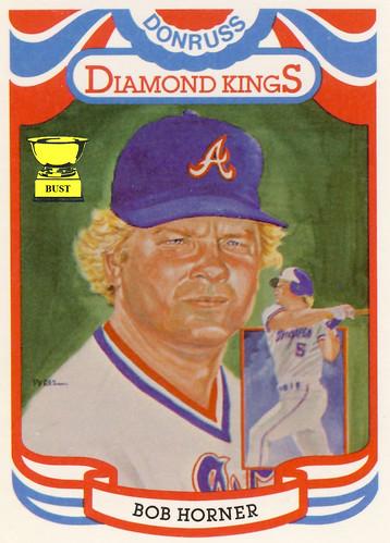 Baseball Card Bust Bob Horner 1984 Donruss Diamond Kings