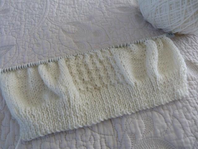 Raglan knit front