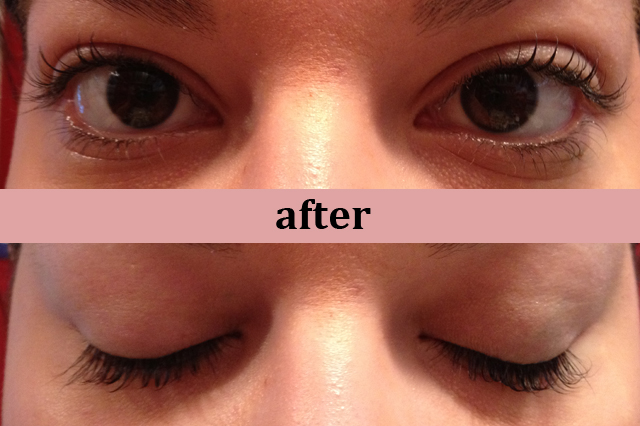 eyelash perm after