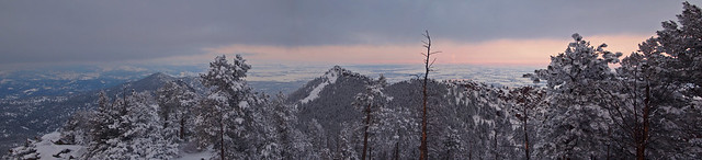 Panorama from South Boulder Peak