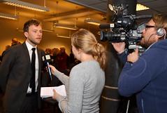 Statsråden blir intervjuet av TV2