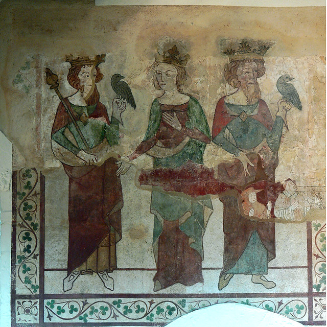 Medieval fresco, Three quick and three dead, Lutterworth
