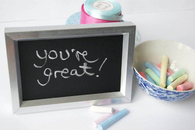 Chalkboard frame tutorial