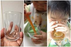 つよいこグラスで飲むよ^^ (2012/2/8)