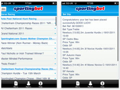 Sportingbet iPhone Sportsbook
