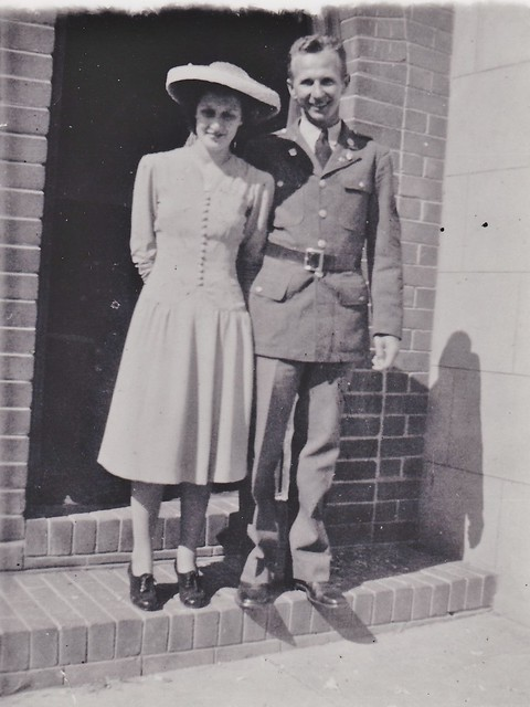 WWII MSgt Alexander Balogh & Joyce Etherton Wedding Day