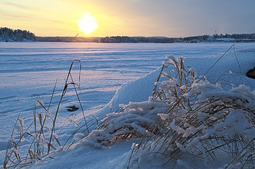winter sunset lake finland landscape fi kuopio