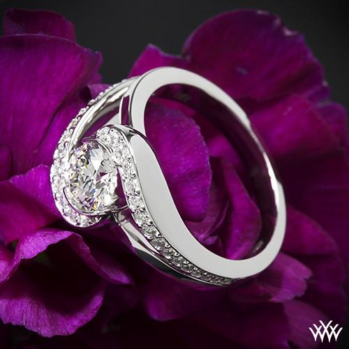 Custom Bypass Diamond Engagement Ring