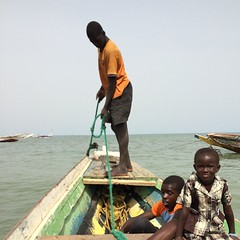 Senegal to Banjul crossing in pirogue...