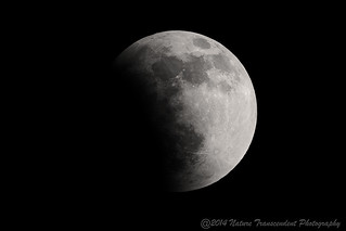 The penumbra swallowing the moon-- Eclipse of April 15, 2014