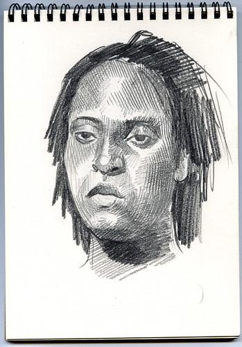 Dominique, Redline life drawing Denver