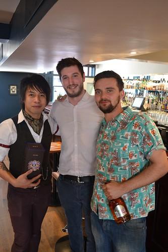 Franco Burnel, winner, Like McFayden, Customer Account Manager Pernod Ricard and Ruairi Muir runner-up