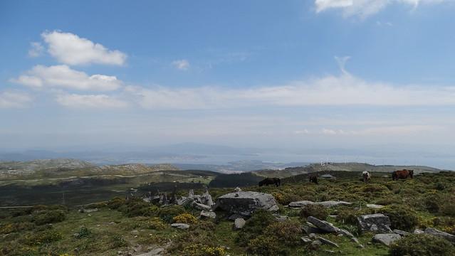 Ría de Arousa desde la sierra del Barbanza