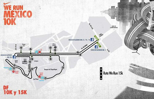 Ruta Nike We Run Mexico DF 15K