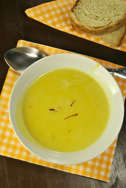 Red Lentil and Saffron Cream of Soup
