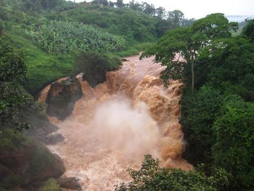 Tanzanian Waterfall Africa by Danalynn C