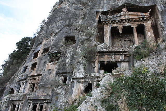 Rock tombs in Fethiye, Turkey