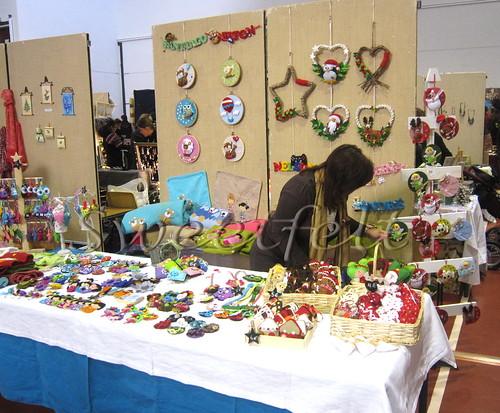 Ontem, na feirinha de  Natal de Prevessin-Moens 2011 ... by sweetfelt \ ideias em feltro
