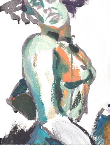 Acrylic Sketch by alain bertin