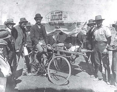 Australian Bicycle History: Bicycle Ambulance St Johns 1904 Cobar Wrightville NSW
