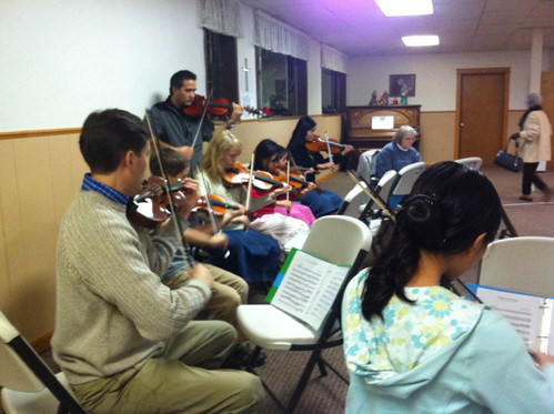 Practicing for Christmas Concert