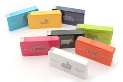 colorful small boxes of paperclips