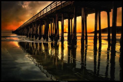 california sunset art texture beach reflections effects pier nikon waves hdr avila onone d90 ©markpatton