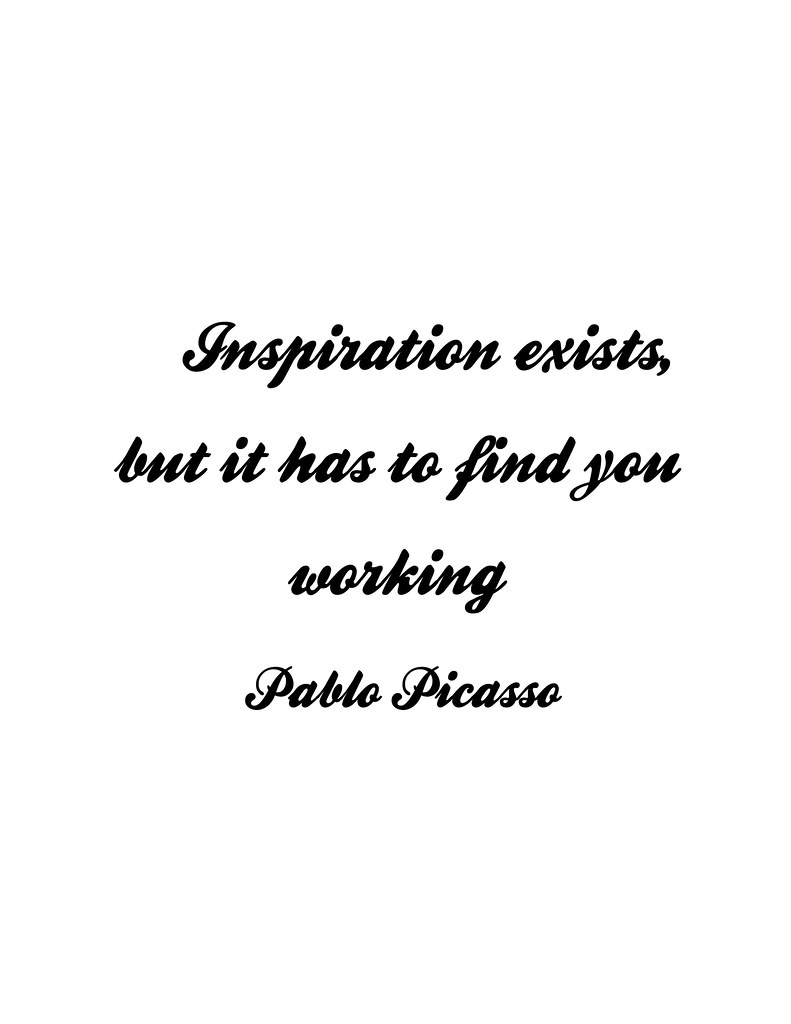 picasso on inspiration