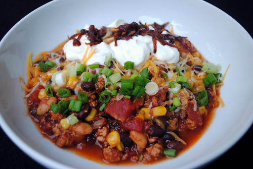 Slow Cooker Caramelized Onion & Chipotle Turkey Chili